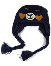 BONAMART ® Kids Baby Junge Kinder Mütze Wintermütze Stricken Hüte Hut Eule