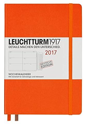 Leuchtturm1917348153Diary A5Medium 2017with Extra Book for Addresses, Bridesmaid Gift, Orange (German)
