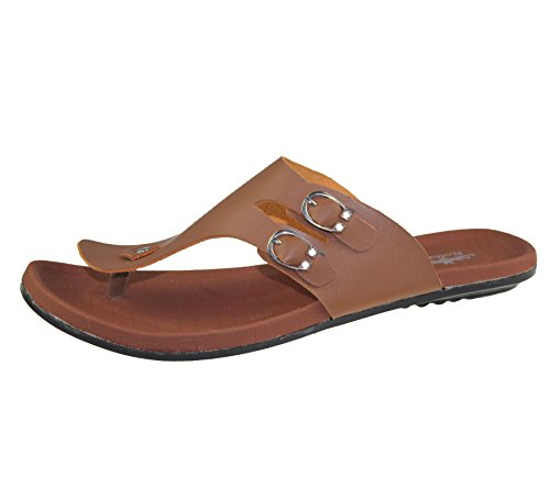 Herren Zehensteg Slipper Casual Flip Flop Beach Walking Sandalen Camel