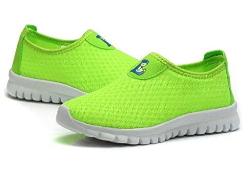 EOZY 1 Paire Chaussure De Multisports Enfant Respirant Double Maille De Lycra vert clair