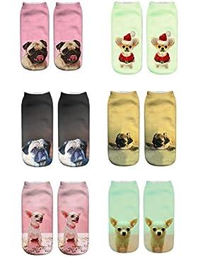 Donne Ragazze Calzini 3D Pazzo divertente Cute Animals caviglia Breve