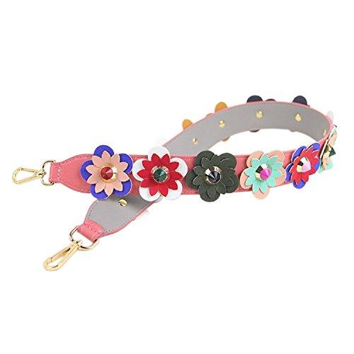 GZHOUSE 4cm breite PU Umhängetasche Lederband DIY Blume Griff Hand Tasche Gurt Ersatz (L * W: 90 * 4CM) (G) (Gurt Ersatz Leder Handtasche)