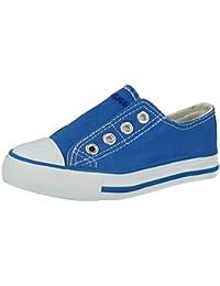 3e99aa9e3713 Kids No Sense 625801 Boys Girls Canvas Slip On Low Top Trainers Pumps Shoes  Size 8