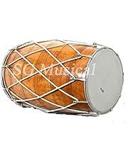 SG Musical Punjab Bhangra Dhol, Natural Color, Mango Wood