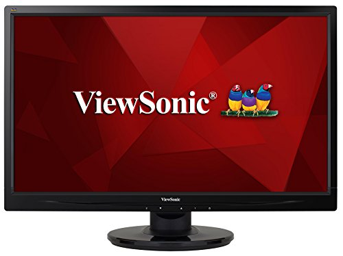 ViewSonic VA2445-LED 59,9 cm (23,6 Zoll) LED-Monitor (DVI, VGA, 5ms Reaktionszeit) schwarz (Viewsonic 24 Full-hd 1080p)