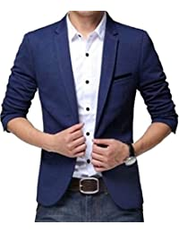 Menjestic Men's Slim Fit Blazer Available In Two Colors