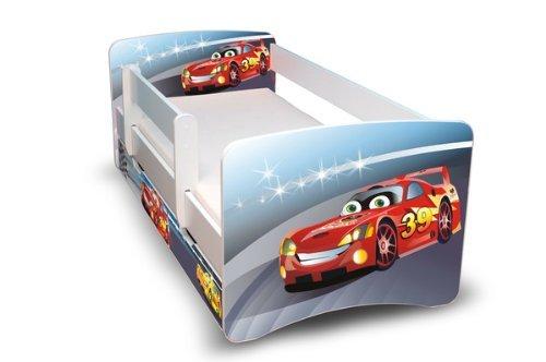 *Best For Kids Kinderbett 70×160 mit Rausfallschutz + Schublade 44 Designs (Cars II)*