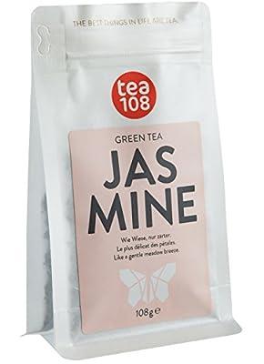 Thé au jasmin – thé vert aromatisé avec des pétales de jasmin – en vrac pour 108 tasses