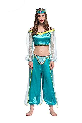 Sexy Wench Serving Kostüme (Damen Sexy Aladdin 's Lampe Halloween Kostüm)