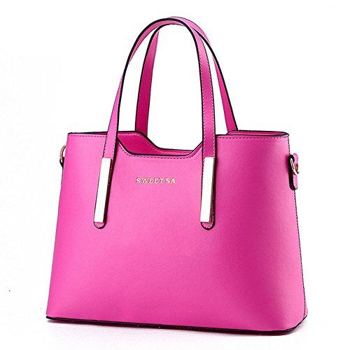 Luxus PU-Leder-Handtasche/Fashion Schultertasche/Tote Rosa