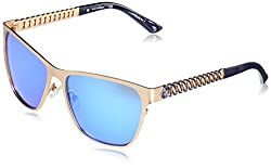 GUESS Womens Metal Square Sunglasses, 29X, 58 mm
