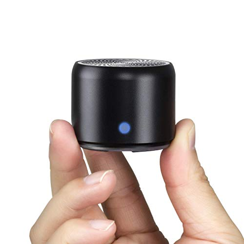 Con Custodia da Viaggio, EWA A106 Mini Altoparlante Bluetooth Portatile Cassa waterproof Resistente all'Acqua IP67 Riproduzione di 12 Ore Speaker Bassi Potenti per Doccia, Interni e all'Aperto(Nero)
