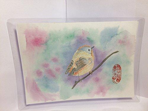 Chinesisches Kunstwerk Gemälde Vogel/Handgemalt/Chinesische Kunst/Aquarellbild/watercolor...