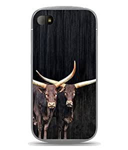 Snapdilla Designer Back Case Cover for Blackberry Q10 (Cattle Mamal Wildlife Grass Picture Abstract)