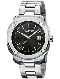 WENGER Unisex-Armbanduhr Analog Quarz Edelstahl EDGE ROMANS NO: 01.1141.109