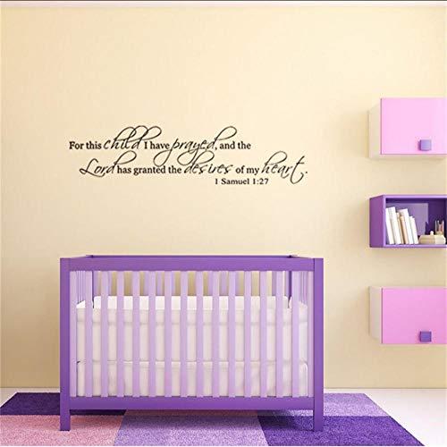 Wandaufkleber Beten Sie Für Dieses Kind Bibel Zitate Wandkunst Schlafzimmer Dekorative Aufkleber Diy Hause Wandtattoos Wandkunst Poster Vinyl Papier