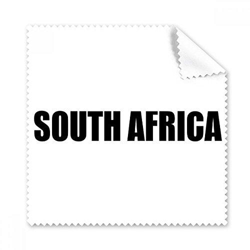 DIYthinker Südafrika-Name Schwarz Brille Tuch Reinigungstuch Telefon Screen Cleaner 5Pcs Geschenk