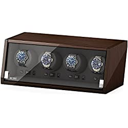 Beco Watch Winder Castle 4 Walnut UK