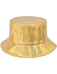 cb7fa14ebb5 Multifit Unisex Hologram Fisherman Cap Waterproof Bucket Hat Travel Sun Hat