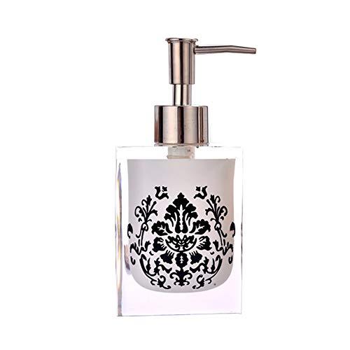 GBNIRE Premium Bad Seifenspender mit Metallpumpe - Harz Seifenspender für Küche, Bad, Waschtisch oder Arbeitsplatte, 250ml Kapazität (Farbe : Weiß)