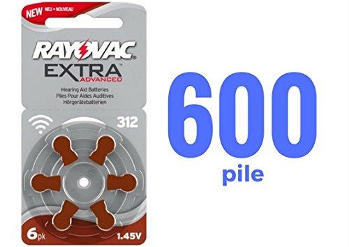 600-pile-rayovac-extra-advanced-mod-312-pr-41-marroni-mercury-free-100-blister-da-6-pile