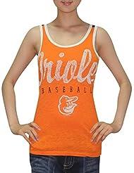 MLB Mujer Baltimore Orioles athletisch–Camiseta de cuello redondo (Vintage), MLB, mujer, color Orangen, tamaño XXL