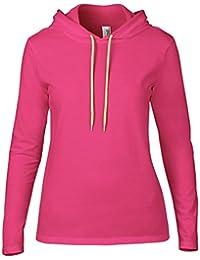 Anvil 887L - T-shirt - Uni - À Capuche - Manches Longues - Femme