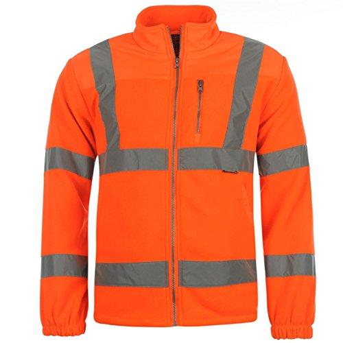Dunlop Herren Hi Viz Fleece Jacke Arbeitsjacke Warnschutzjacke Arbeitskleidung Orange Medium (Orange Kapuzen-fleece)