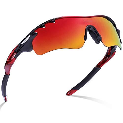 Carfia Polarisierte Herren Sonnenbrille UV 400 Schutz Sportbrille für Autofahren Fahrrad Angeln Golf,D-1