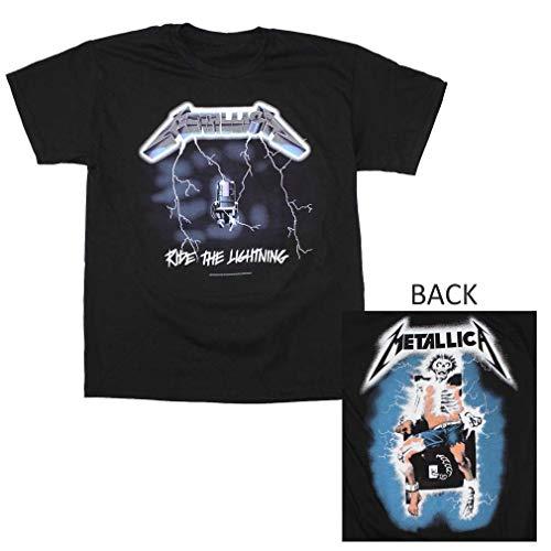 Lustiges T-Shirt Metallica-Fahrt das Mode-Grafik-T-Shirt der Blitz-Männer (T-shirts Benutzerdefinierte Billige)