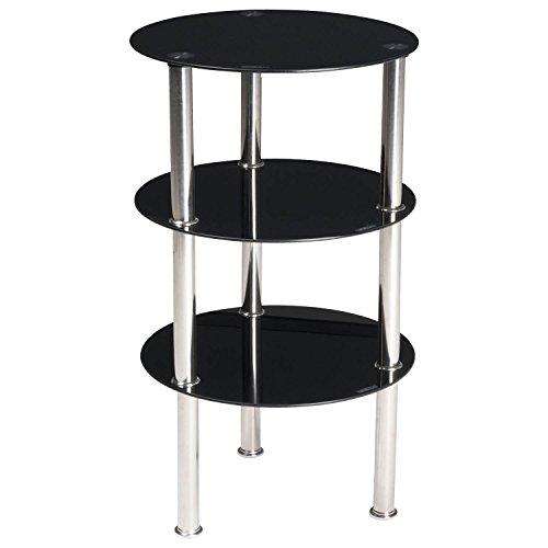 Stilvolle Home-office-möbel (Schwarz 3Etagen rund Glas Display Kaffee, Seite Ende Tisch Home Office Möbel)