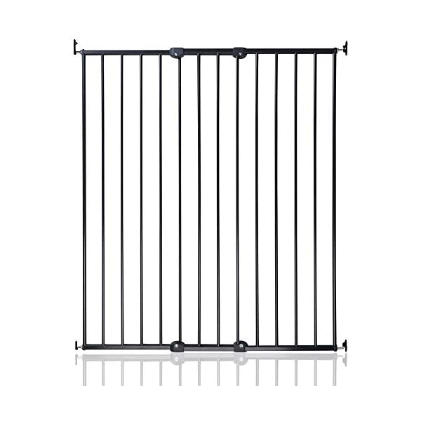 Bettacare Extra Tall Screw Fitted Safety Gate Black Bettacare Fits openings from 62.5cm to 106.8cm Screw fitted black or white powder-coated steel gate One-handed operation 1