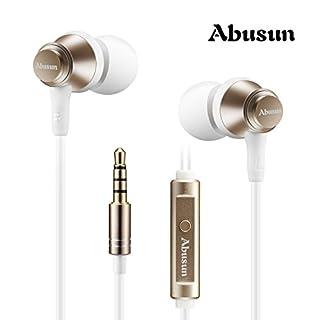 Ajusen Ohrhörer Stereo Sound Metall Earbuds With Integriertes Mikrofon Fernbedienung & Ear-Kopfhörer In-Ohr-Kopfhörer