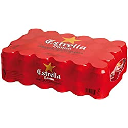 Estrella Damm Cerveza - Paquete de 24 latas x 330 ml