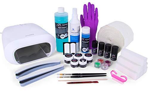 SN Gelnägel Set Starterset mit UV Lampe und Gel, Nagelgel für Fingernagelverstärkung A2