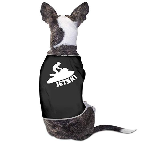 New Outpost Jet-Ski-Haustier-Kleidungs-Kostüm-Hündchen kleidet Weste T-Shirts, S, Schwarzes -
