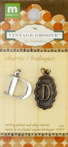 Making Memories Jill Schwartz Vintage Groove Alpha Charms D by MAKING MEMORIES