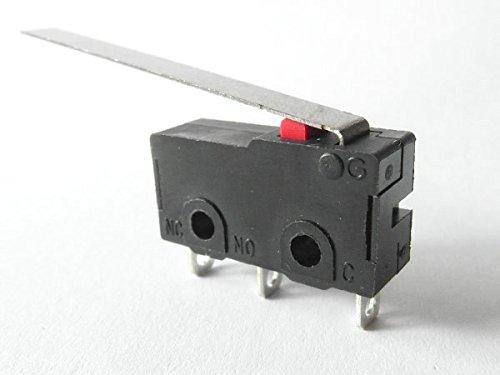 Mikroschalter Taster 5A 125V 250V~ 10T85u CQC Mikrotaster langer Hebel Modell: - Endschalter Mikroschalter