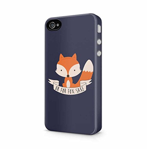 Oh for Fox Sake Cute Cartoon Foxy Kompatibel mit iPhone 4 / iPhone 4S SnapOn Hard Plastic Phone Protective Fall Handyhülle Case Cover (Adorable Iphone 4s Fällen)