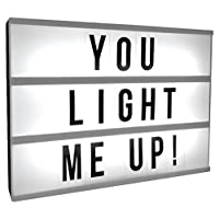 The Leonardo Collection Cinematic Light Up Box with 85 Letters 6-Inches, Nylon/A, Mini