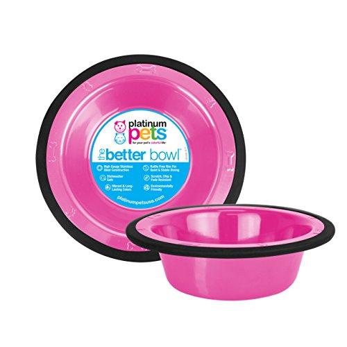 Platinum Pets Kaffeebereiter Edelstahl Schale mit breitem Rand, Pink