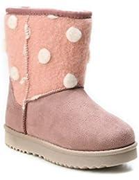 e0ad4a1da6c8f1 HERIXO Damen Baby Kinder Mädchen Junge Schuhe Winter-Boots Snowboots  Muster-Schaft Gemustert Schnee Fell…