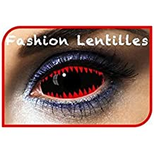 Fashion Lentilles - Le50077 - Lentilles Sclera 077 Dents de Requin  Rouge noir Duree 1 5654e9996aad