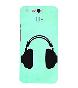 FUSON Headphones Vector Illustration Music 3D Hard Polycarbonate Designer Back Case Cover for InFocus M812