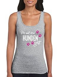 Man muss das Leben tanzen 100/% Baumwolle Top Basic Print-Shirt Rundhals - Damen Tank Top Comedy Shirts