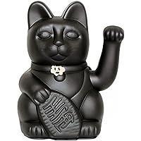 Lucky Cat. Der klassische Glücksbringer in winkender Katzengestallt oder Maneki-Neko in fröhlichen Farben. SCHWARZ: Vermeidet Pech und steigert das Glück. 10x6x15cm