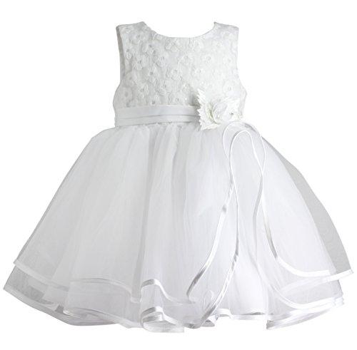 86e7df306871e Boutique-Magique Robe de baptême bébé Fille Blanche Robe cérémonie bébé
