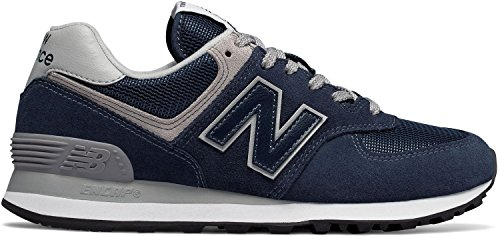 Leder-mix (New Balance Damen Retro-Sneaker 574 blau Leder/Synthetik-Mix 40,5)
