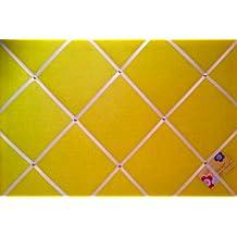 Grande Amarillo Con Cinta Blanca Hecha a mano tela aviso/Pin/Pizarra