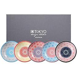 Tokyo Design Studio, Star Wave, 5 Schalen Set , 5-tlg., Ø 9.5 cm, Porzellan aus Japan